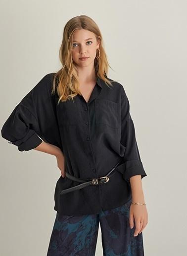 Ng Style Rahat Kalıp Liyosel Gömlek Siyah